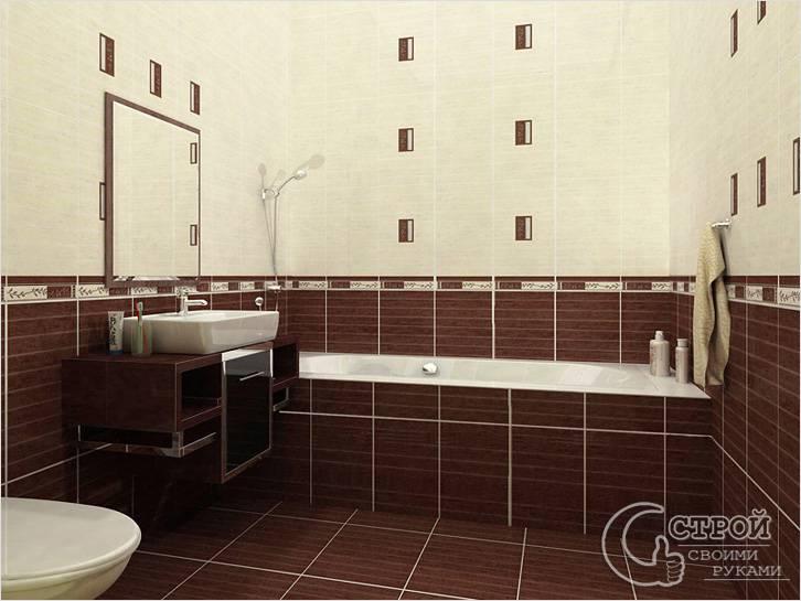 Отделка кафельной плиткой в ванной