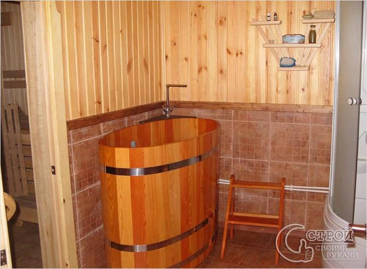Внутренняя отделка бани своими руками фото моечной