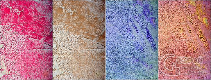 Варианты покраски структурной штукатурки «Шуба»