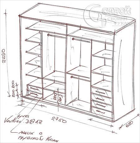Как сделать встраиваемый шкаф своими руками
