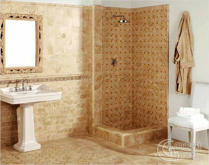 Плитка — напольное покрытие для ванной