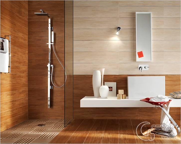 Плитка при отделке стен в ванной