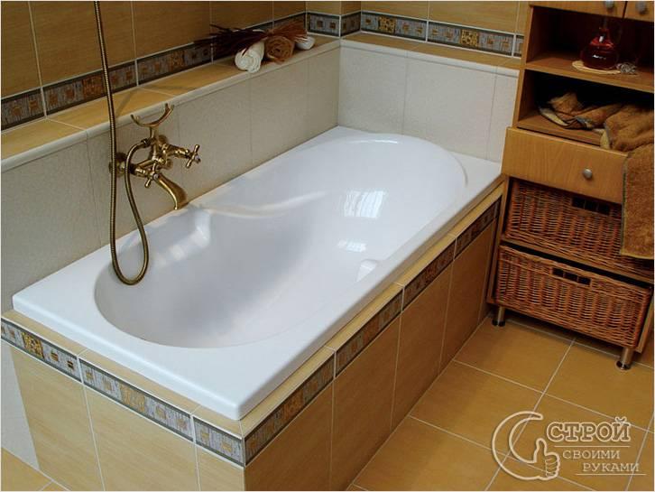 Плиточный экран для ванны