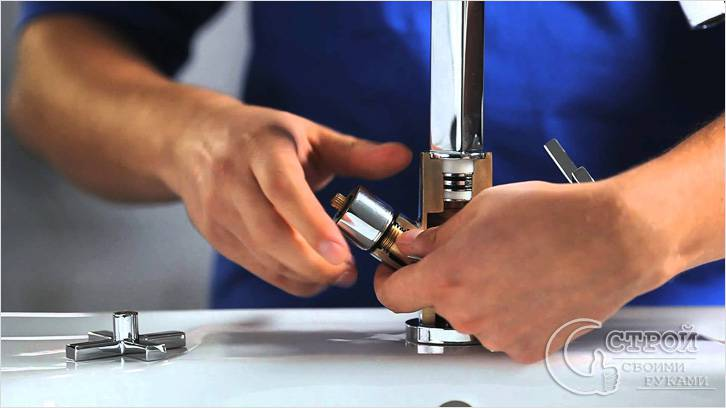 Подготовка к ремонту смесителя