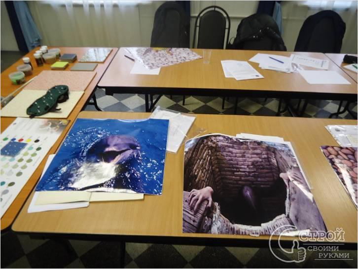 Подготовка рисунка для наливного пола