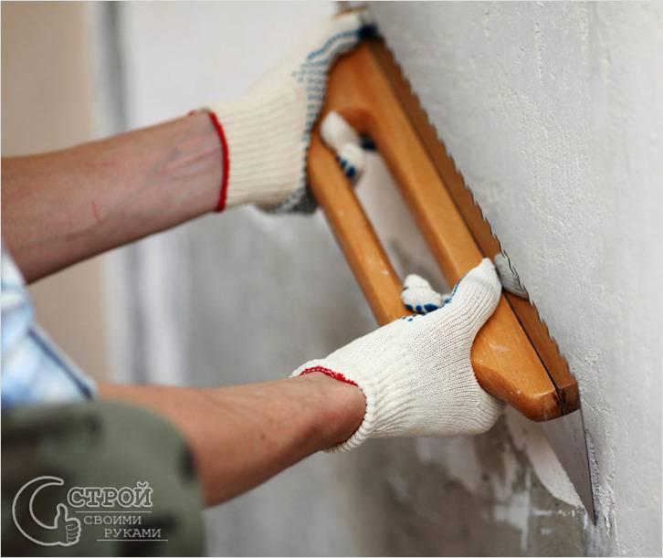 Подготовка стен под виниловые обои