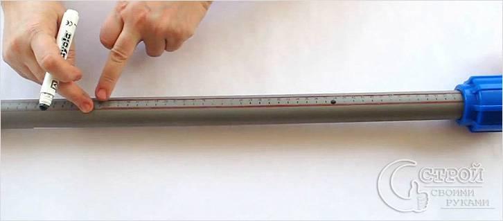 Разметка пластиковых труб