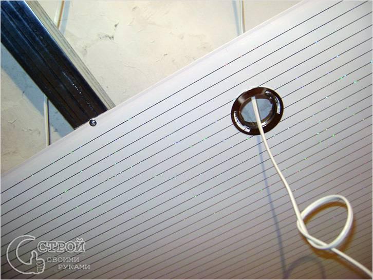 Разводка проводов на потолке