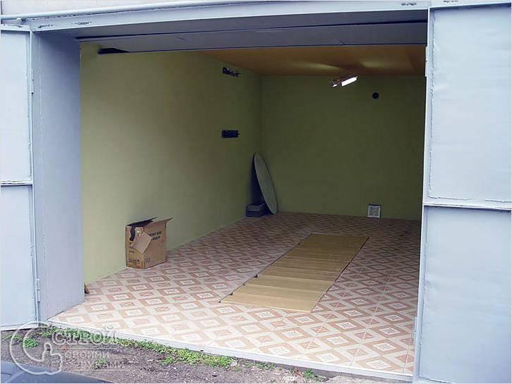 Ремонт стен и пола гаража