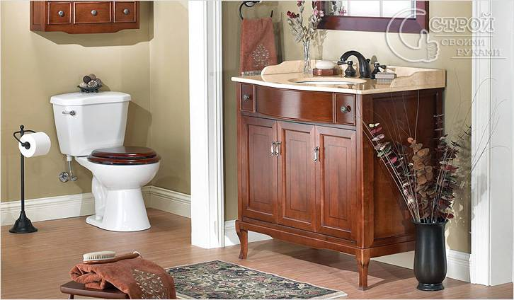 Ремонт мебели для ванной своими руками