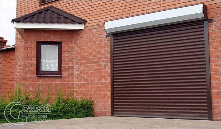 Ворота на гараж рулонные своими руками