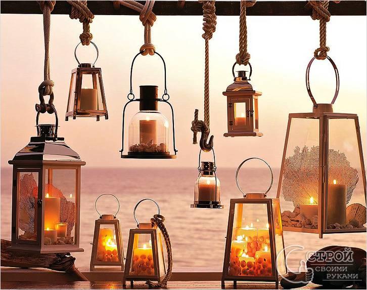Садовые фонари для свечей
