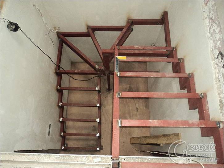 Межэтажные металлические лестницы своими руками фото