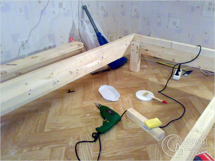 Сборка конструкции кровати