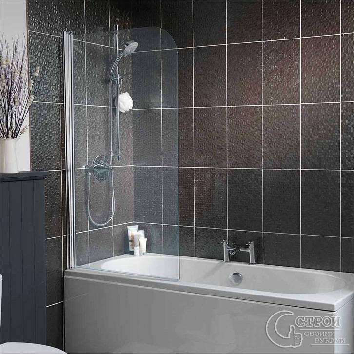 Стеклянный экран для ванной своими руками 2