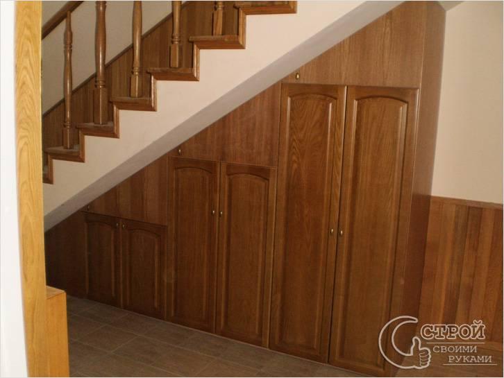 Шкафы под лестницей