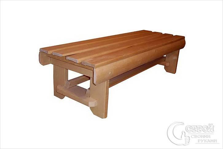 Сделать скамейку в бане своими руками