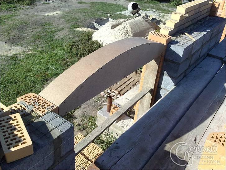 Строительство арочной перемычки
