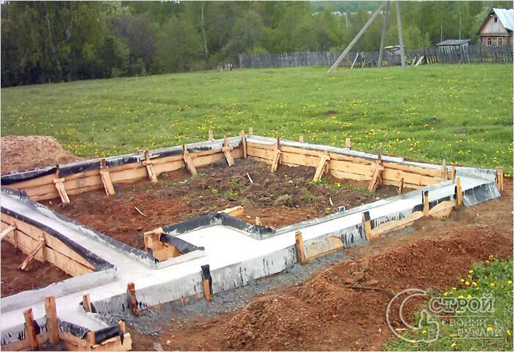 Строительство фундамента под печь