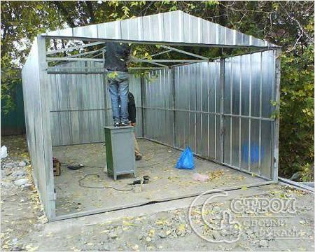 Строительство гаража пенала