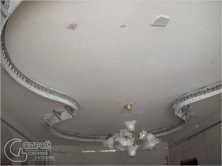 Как сделать своими руками двухуровневые потолки