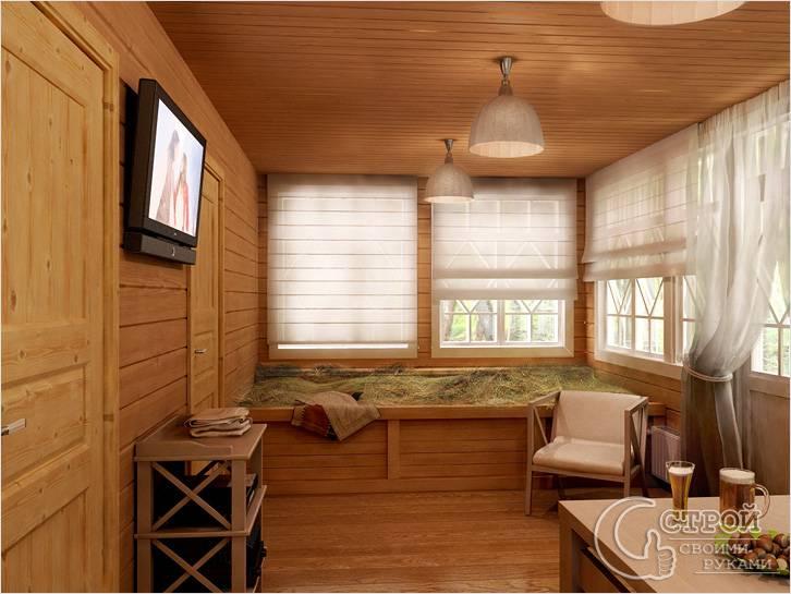 Дизайн кухни для бани