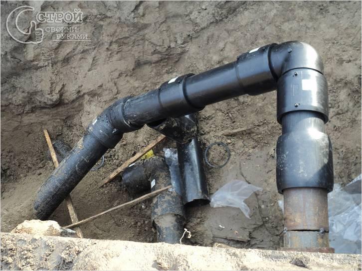 Трубопровод наружной канализации