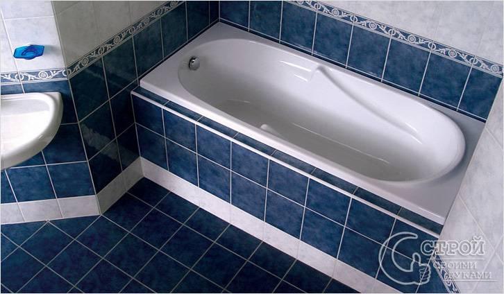 Установить акриловую ванну своими руками