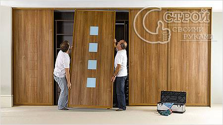 Установка дверей и полок