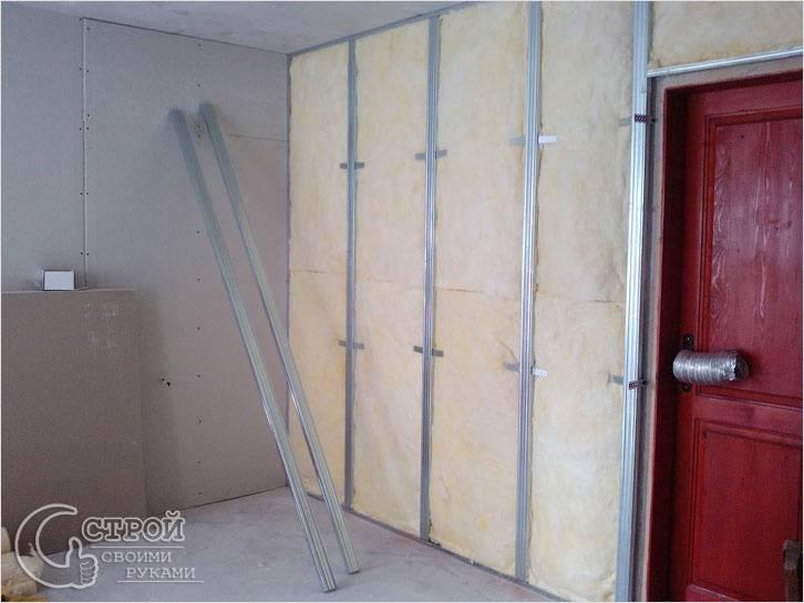 Утепление стен из гипсокартона