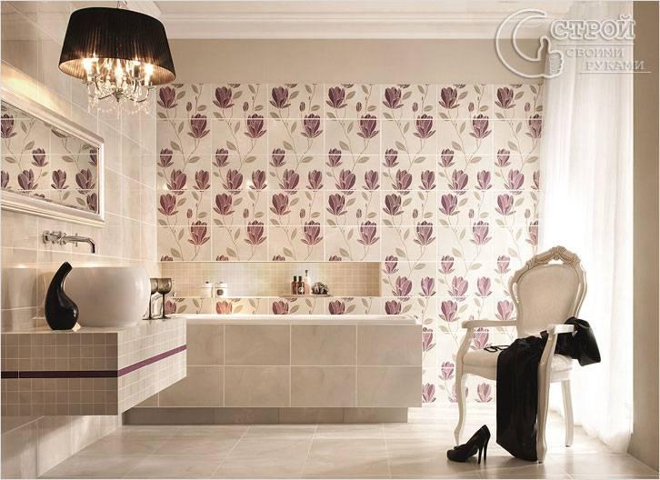 Внешний вид плитки для ванной