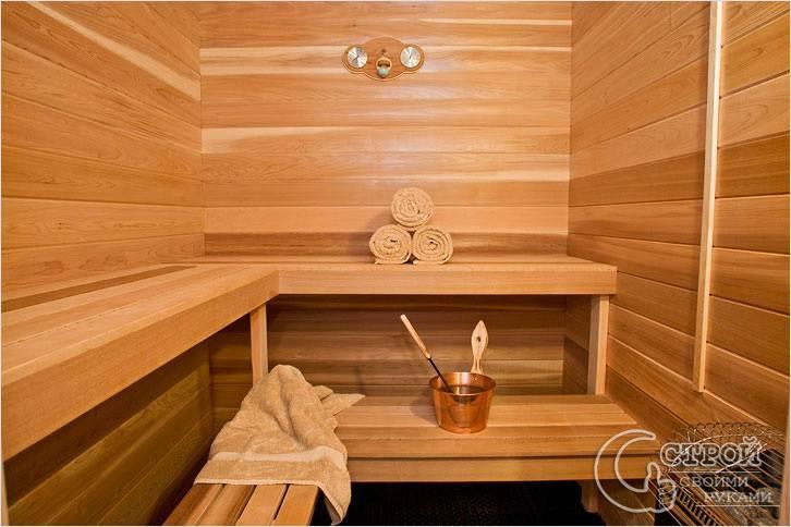 Внутренняя отделка бани из шлакоблоков