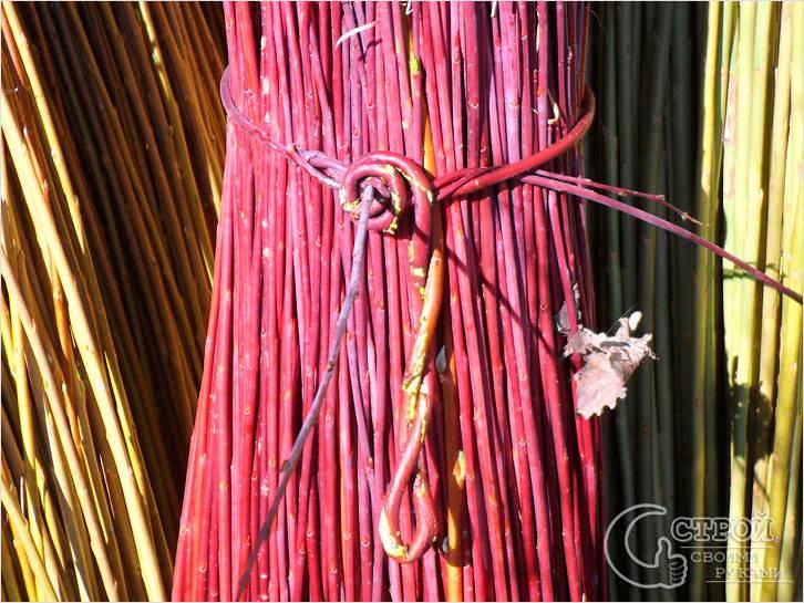 Заготовка материала для плетения