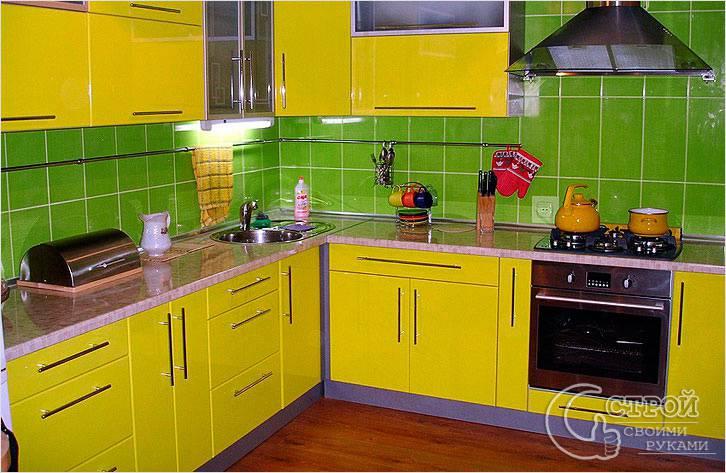 Замена фасадов кухонной мебели