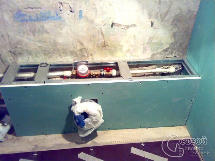Зашиваем трубы в короб